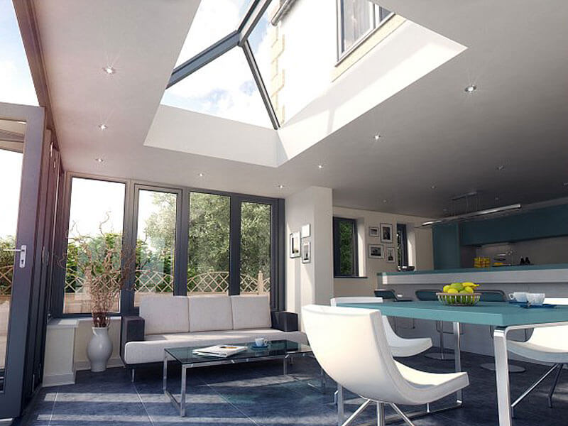 Contemporary Lantern Roof